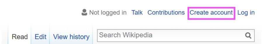 vytvorit ucet wiki